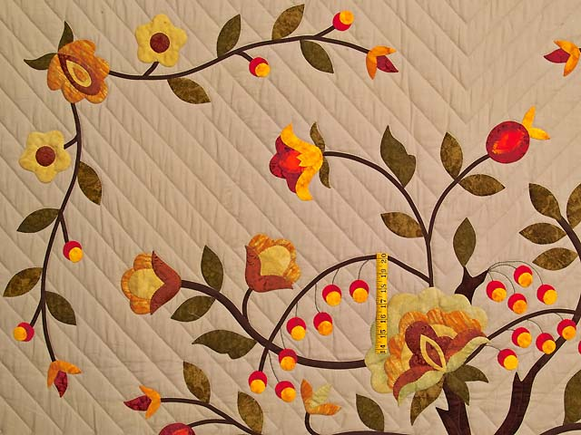 Sunset Tree of Life Appliqué Quilt Photo 4