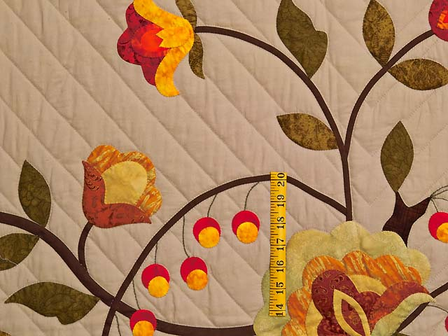 Sunset Tree of Life Appliqué Quilt Photo 5