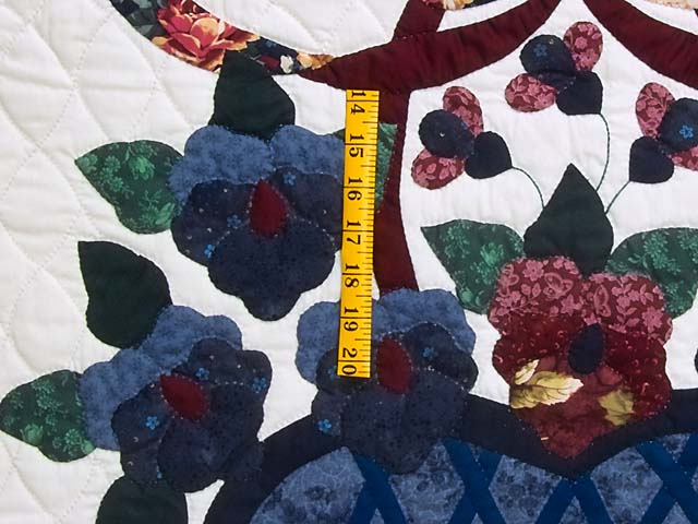 Applique Pansy Basket Quilt Photo 5
