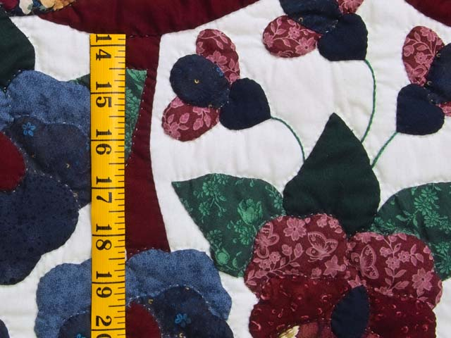 Applique Pansy Basket Quilt Photo 6