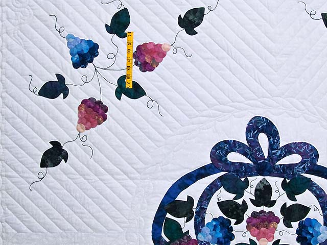 Applique Grape Basket Quilt Photo 4