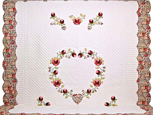 King Heart of Rose Quilt Photo 2