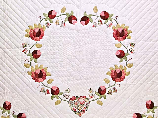 King Heart of Rose Quilt Photo 3