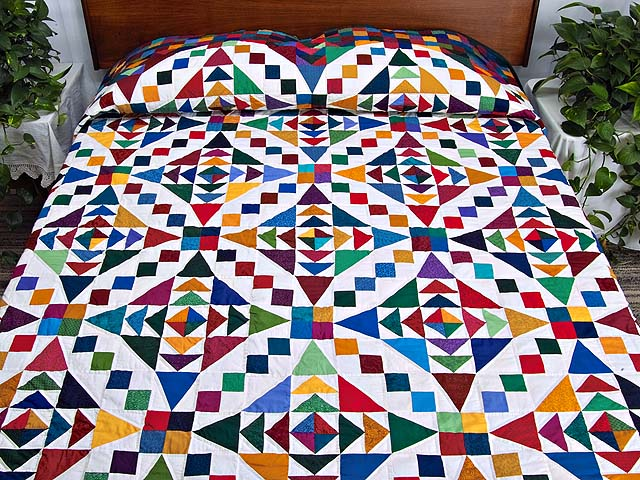King Colorful Faceted Jewels Quilt Photo 1