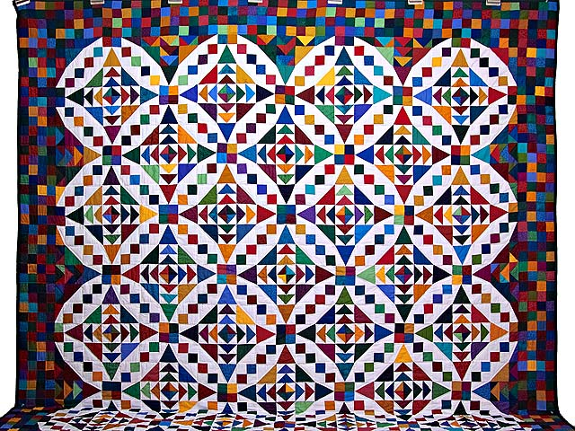 King Colorful Faceted Jewels Quilt Photo 2