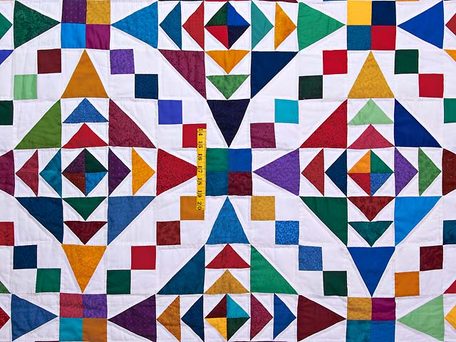 King Colorful Faceted Jewels Quilt Photo 4