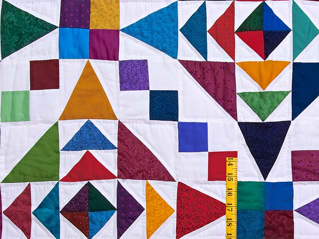 King Colorful Faceted Jewels Quilt Photo 5