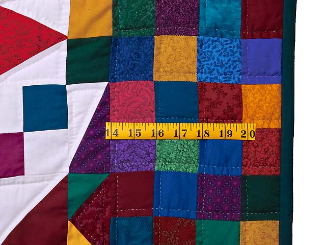 King Colorful Faceted Jewels Quilt Photo 7