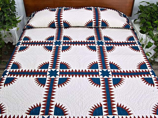 Navy and Red New York Beauty Quilt Photo 1