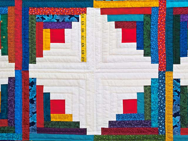 Colorful Log Cabin Quilt Photo 4