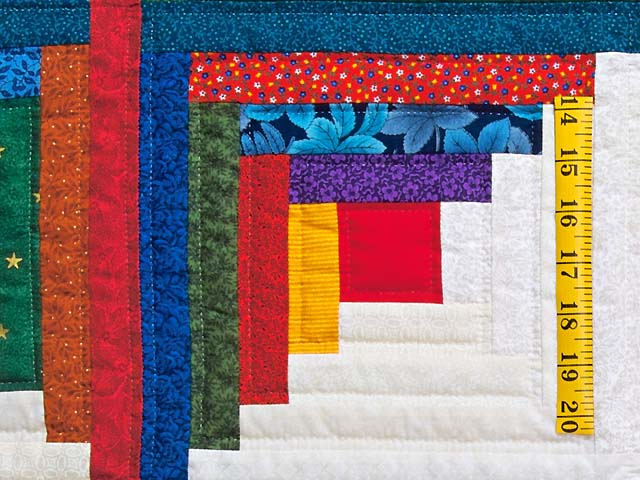 Colorful Log Cabin Quilt Photo 5