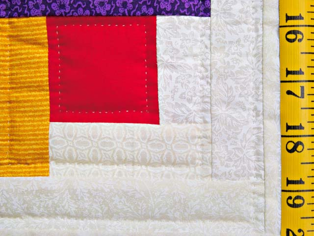 Colorful Log Cabin Quilt Photo 6