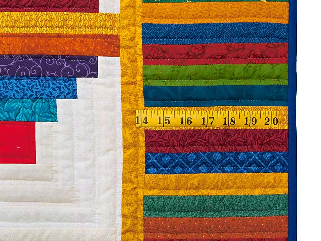 Colorful Log Cabin Quilt Photo 7