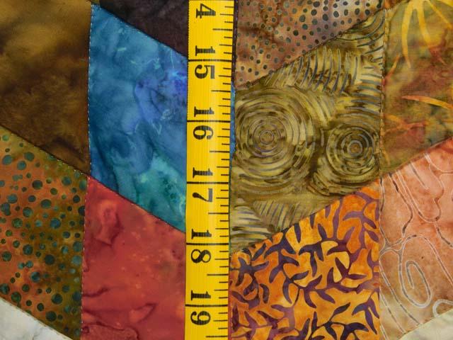 King Hand Painted Tumbling Blocks Quilt Photo 6