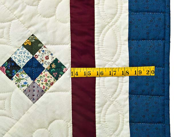 King Blue Burgundy and Multi Double Nine Patch Quilt Photo 7