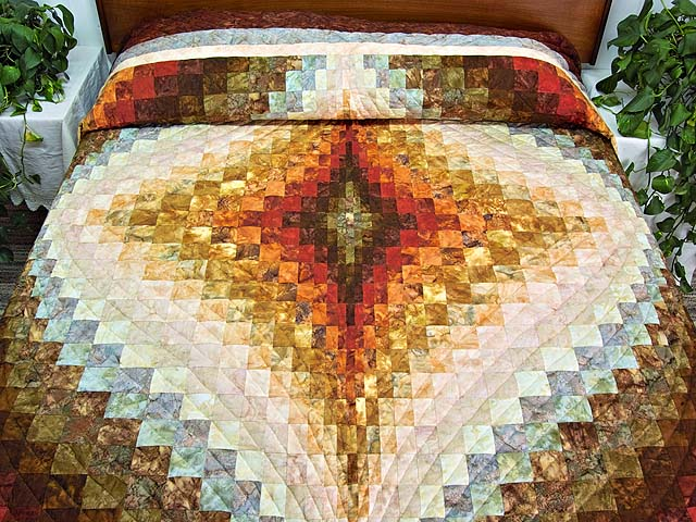 King Hand Painted Diamond Bargello Quilt Photo 1