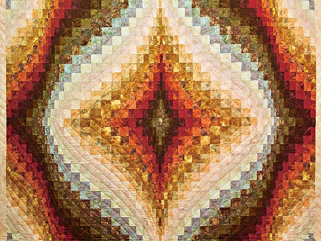 Diamond Bargello Quilt -- great well made Amish Quilts from