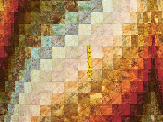 King Hand Painted Diamond Bargello Quilt Photo 4