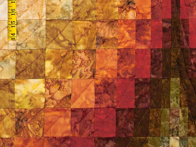 King Hand Painted Diamond Bargello Quilt Photo 5