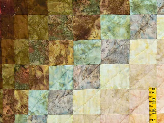 King Hand Painted Diamond Bargello Quilt Photo 6