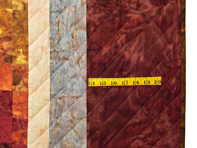 King Hand Painted Diamond Bargello Quilt Photo 7