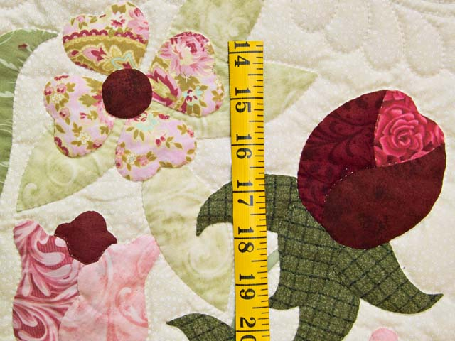 King Willow Green and Rose Spring Basket Quilt Photo 6