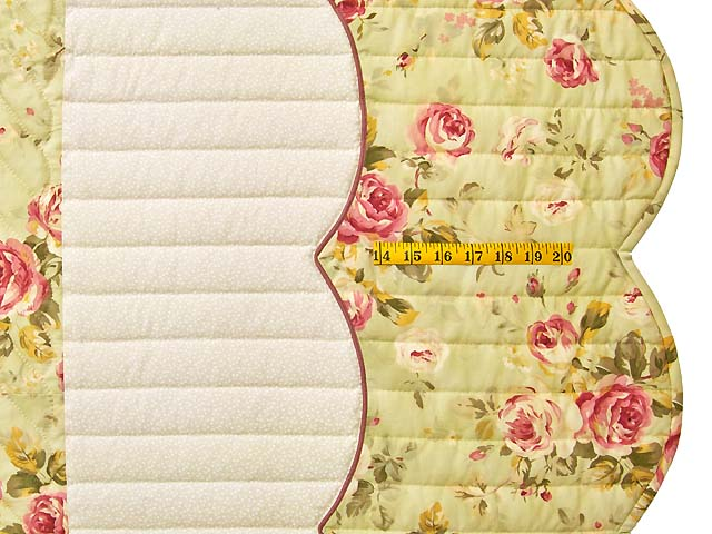 King Willow Green and Rose Spring Basket Quilt Photo 7