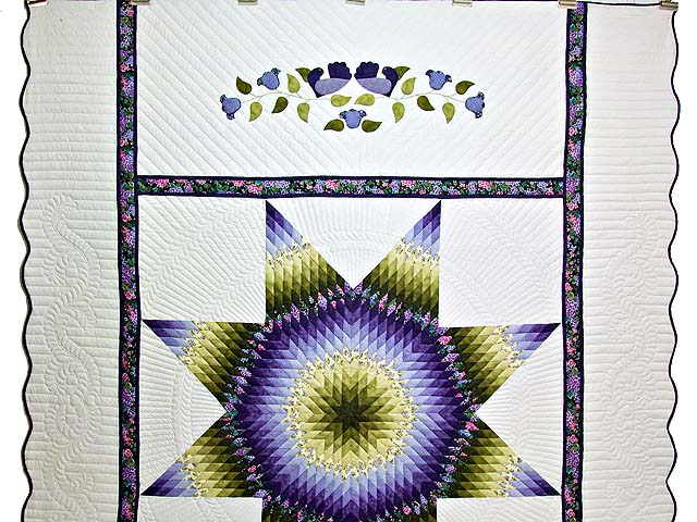 Green and Purple Lone Star Country Bride Quilt Photo 2