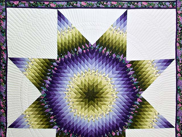 Green and Purple Lone Star Country Bride Quilt Photo 3