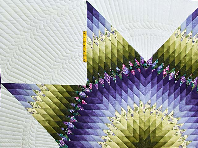 Green and Purple Lone Star Country Bride Quilt Photo 4