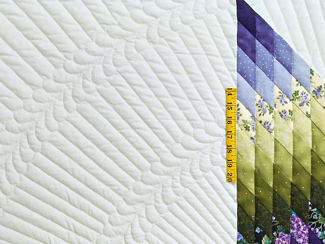Green and Purple Lone Star Country Bride Quilt Photo 5
