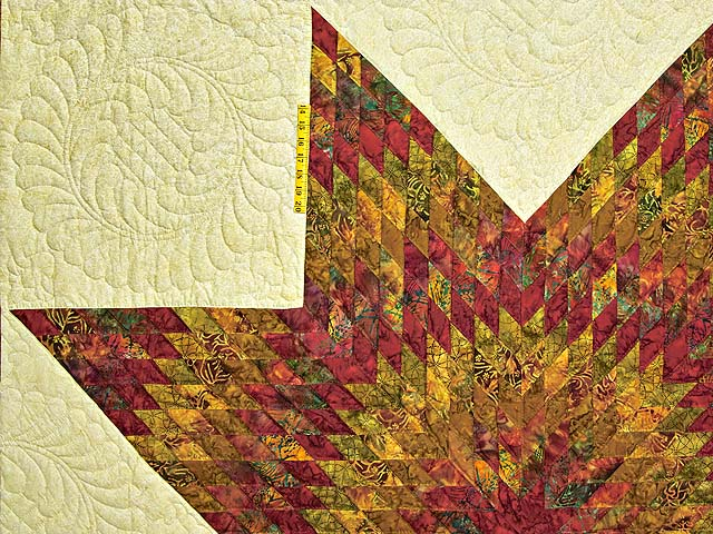 Red and Gold Hand Painted Lone Star Quilt Photo 4