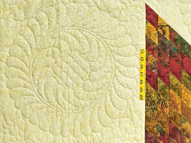 Red and Gold Hand Painted Lone Star Quilt Photo 5