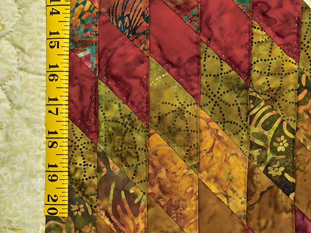 Red and Gold Hand Painted Lone Star Quilt Photo 6