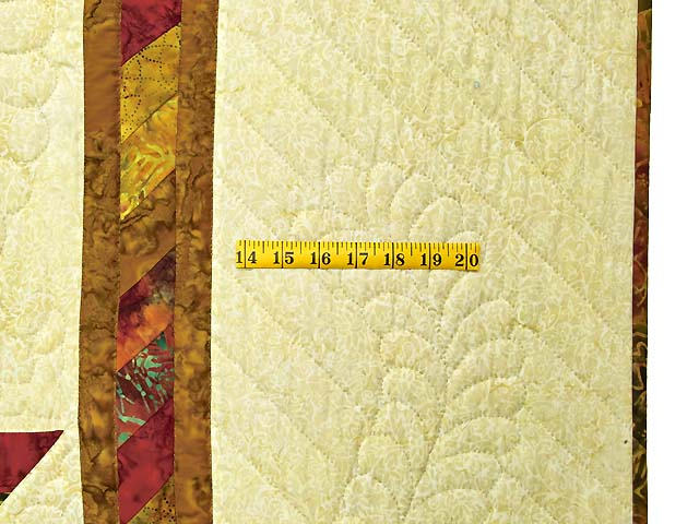 Red and Gold Hand Painted Lone Star Quilt Photo 7