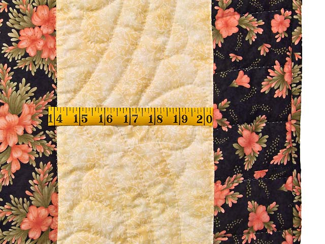 Gold Rose and Black Lone Star Log Cabin Quilt Photo 7
