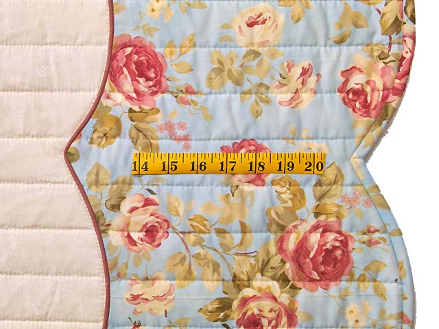 King Powder Blue Pink and Rose Heart of Roses Quilt Photo 7