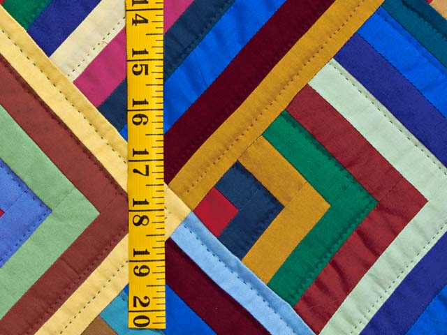 Burgundy and Multicolor Almost Amish Chevron Quilt Photo 5