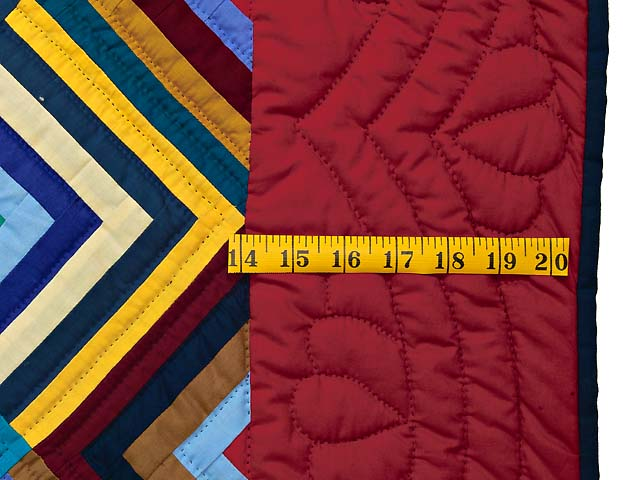 Burgundy and Multicolor Almost Amish Chevron Quilt Photo 6