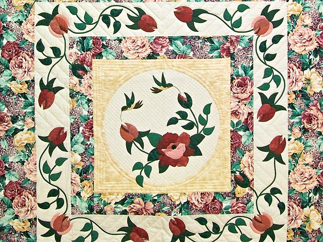 Rose and Wheat I Promised You a Rose Garden Quilt Photo 3
