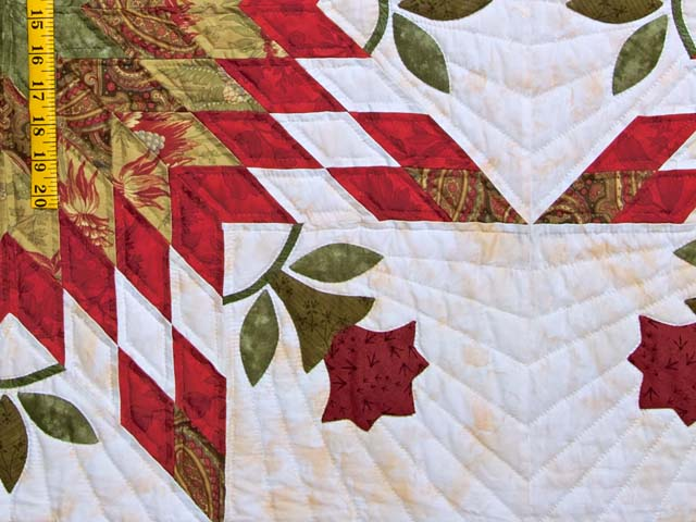 King Sage and Red Starburst Quilt Photo 5