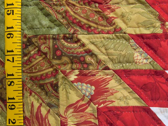 King Sage and Red Starburst Quilt Photo 6