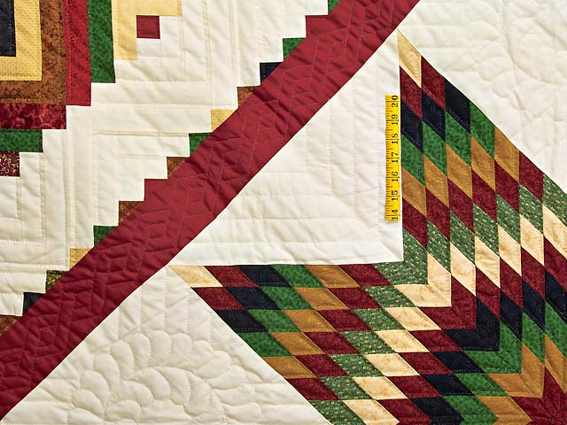 Country Colors Extra Fine Lone Star Log Cabin Quilt Photo 4