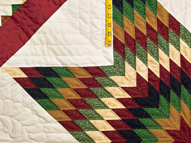 Country Colors Extra Fine Lone Star Log Cabin Quilt Photo 5