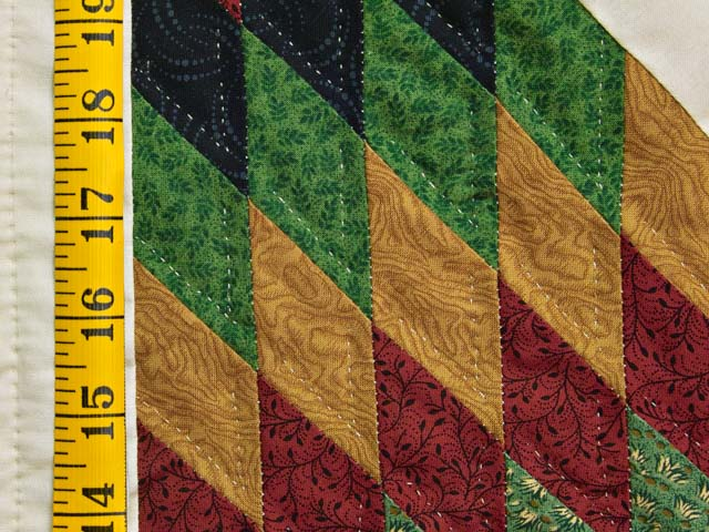 Country Colors Extra Fine Lone Star Log Cabin Quilt Photo 6