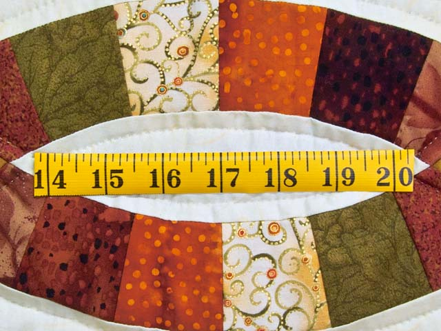 Brown Rust Sage and Gold Double Wedding Ring Quilt Photo 6
