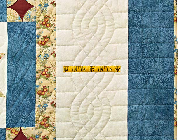 King Blue and Dark Burgundy Dahlia Star Quilt Photo 7