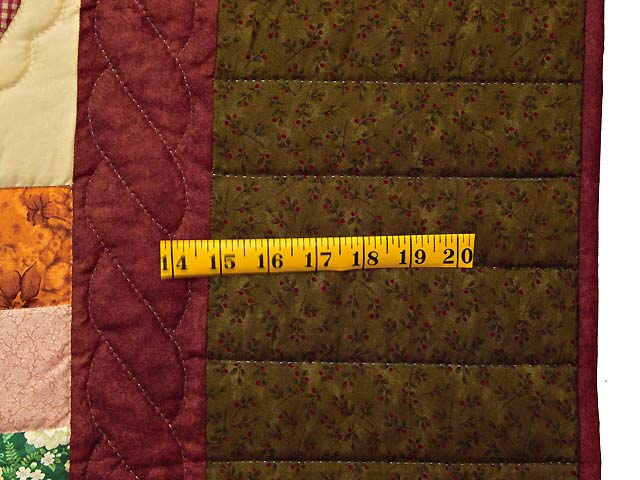 Dark Green Burgundy and Multicolor Hearts and Nine Patch Quilt Photo 6