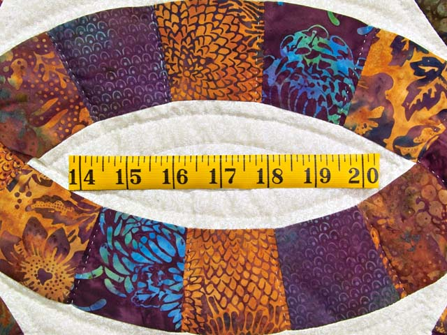 Gold Purple and Blue Batik Double Wedding Ring Quilt Photo 6