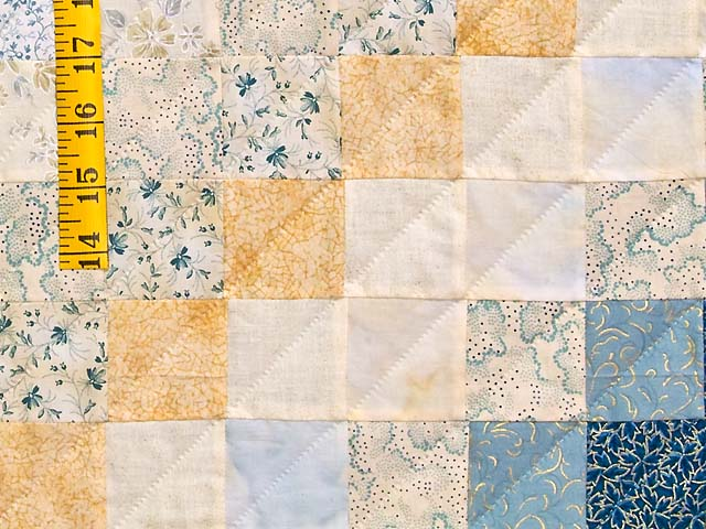 King Navy Blue and Gold Trip Around the World Quilt Photo 6